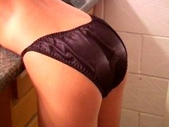 Petra surrogating from white sheer to black satin panties...HOT