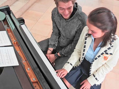 Super charming 18-19 year old fucked by her excited piano teacher