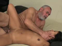Hot Babe and Beefy Step Daddy