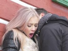 Dane Jones Deepthroat dick sucking public doggystyle & facial for blonde chick