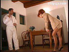 uber-cute red-haired milf banged by partner