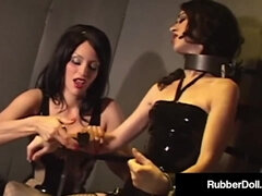 Spandex Female Dominance RubberDoll Gags Mina Meow With Unusual Eyed!