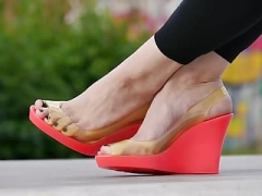 Feet 027 - Pink Wedges