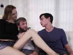 Belle Claire and furthermore Blonder blows step dads cock