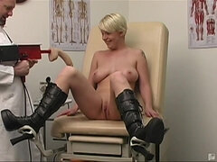 Missy Monroe - hot sex toy fun in medical cabinet