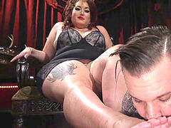 plus-size dominatrix Destroys Her sub