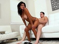 Big titted tanned Latina Bianka
