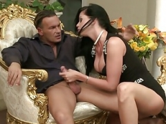 Penis Riding On Expensive Chair With Larissa Dee
