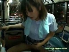 Schoolgirl Riding On Fella Cock On The Seat At The Night Bus