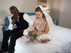 Hot chubby bride interracial porn video
