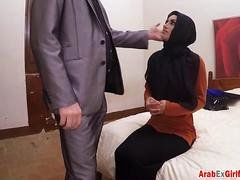 Arab Kitten deepthroat and besides wacky sex to pay rent money