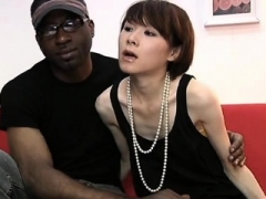 In this fully hardcore interracial black on Asian one