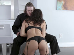 Reagan Foxx rewards stepson with a sopping wet blowjob and a juicy milf pussy to fuck