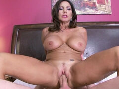 Milf Tara Holiday titfucks & jerks & rides her stepson's huge cock in the motel