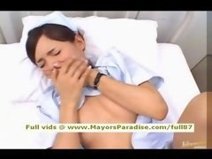 Rio innocent adorable super lovely lascivious Chinese nurse gets fucked hard