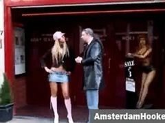 Positively dutch prostitute seduces tourist in amsterdam red light sex district