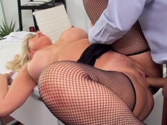 Naughty blonde woman likes to get nailed