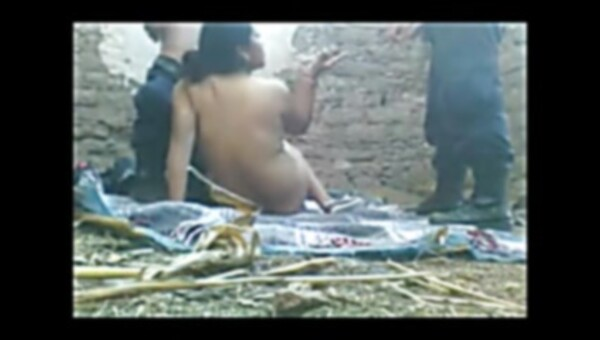 Desi Village Aunty Deep Throats and Smallish two Policemen Outside