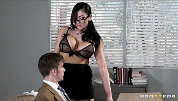 Naughty college prof Audrey Bitoni steals her student from his