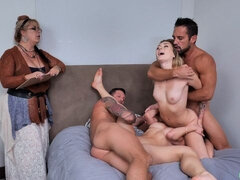 Two sex angels Charlotte Sins and Diana Grace in the hottest FFMM action