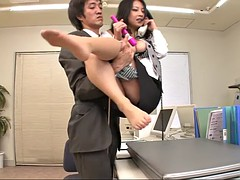 gorgeous satomi needs both the sex toys and the rock-solid dicks