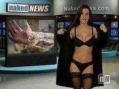 Sexy anchor on the Undressed News strips down while reporting