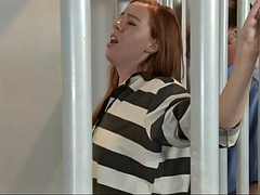 prison guard fucks nasty kierra wilde through the bars