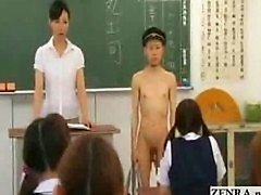 Novel Japanese transfer student goes naked in school CF