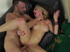 Dominated Elizabeth Romanova dong gag and having an intercourse