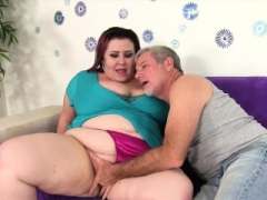 Sizeable boobed BBW Female Lynn takes fat cock