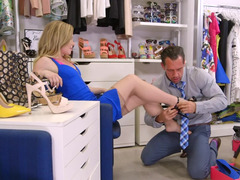 Trying shoes woman gets fucked by handsome sales assistant
