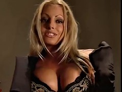 trish stratus table tease (spank version)