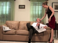 Gwen Diamond pegging submissive fella