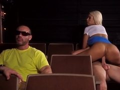 Bridgette B enjoys a passionate banging in the cinema