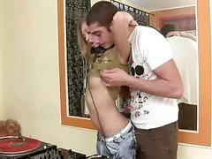 Gal Petite Jugs Has Passionated Sex On C