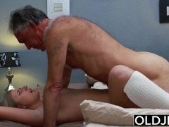Teen blondie humped by step dad that loves his stepdaughter