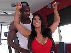 Work out with a huge black love tool