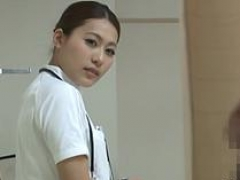 japan nurse shows off cum bucket video