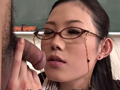 bossy teacher yui komine gives students humiliating blowjobs