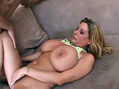 experienced MILF with a big pair of tits fucks young stud