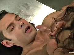 shemale doctor fucks a patient with a big cock