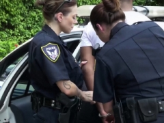 Twin sexually available mom cops get their pink slits drilled