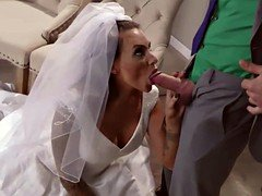 The Bride giving head Juelz Venturas large cock deep throat