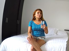 gorgeous latina luisa gets stripped and fucked by stranger in hotel room