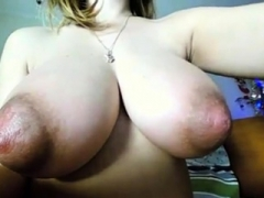 Dilettante - Blond Huge Naturals Huge Puffy Nipples on Cam