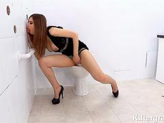 Killergram Stella Cox fucking big fat cock in the gloryhole