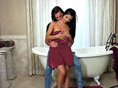 Latina Drilled in the bathroom