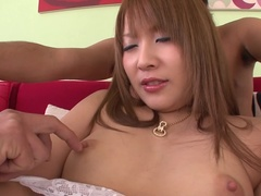 Ambrosial Rinka Aiuchi performing in amazing creampie porn video