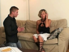 Hot mom-in-law gives head and furthermore rides his dick