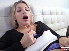 Stepson taking care of his MILF stepmoms hungry pussy